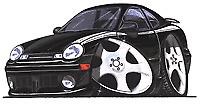 Dodge Neon Black Cartoon T-shirt acr plymouth expresso sxt se es r/t Sizes S-3XL