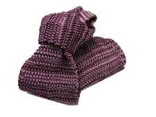 CRAVATTA maglia in seta tricot bordeaux rosa vinaccia a righe a righette uomo