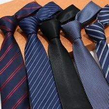 22 Color Factory 7cm Men Classic Neck Ties Stripes Professional Skinny Necktie