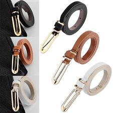 Ladies Slim Waist Belt Thin Skinny PU Leather Belt Women Narrow 5 Colours 1.2CM