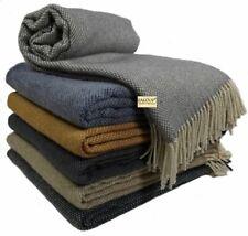 Wolldecke Plaid 100% Schurwolle in versch. Farben und Größen Plaid Merinowolle