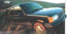 LAND ROVER RANGE ROVER SPEC SHEET / Brochure:1998,1997,1996,...........