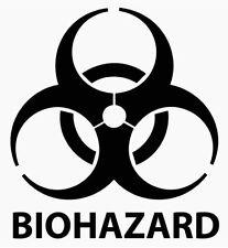 Biohazard Warning Logo Danger Diecut Vinyl Decal Sticker Car Window Wall Truck