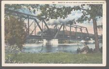Postcard LEAVITTSBURG WARREN,Ohio/OH  Erie Railroad Bridge 1910's
