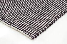 SITARI 30 BLACK WOOL FLATWEAVE RUG Cream 3 sizes Modern Floor Mat FREE DELIVERY*