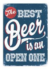 Best Beer Blue Metal Wall Sign Plaque Art Ale Drink Booze Mancave BBQ Dad Jokes