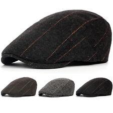 Newsboy Gatsby Cap Mens Ivy Hat Golf Driving Herringbone Flat Cabbie Beret Hats