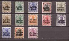 Dt. Bes. 14/18 Deutsche Post in Polen aus Mi. 1-16 * Einzelmarken ungebraucht