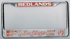 RARE Redlands California Jim Glaze Dodge Vintage Dealer License Plate Frame