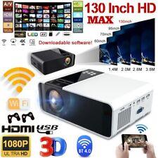 Portable HD 1080P Mini Wifi Bluetooth LED Movie Projector Home Theatre HDMI USB