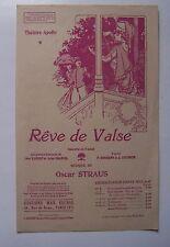 partition ancienne Rêve de Valse - Oscar Straus