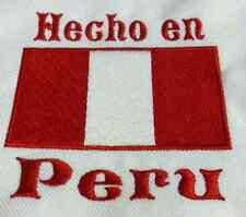 Hecho en Peru Peru Flag Baby Bodysuit  Embroidered