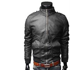 Giacca Giubbotto in Pelle Uomo Men Leather Jacket Veste Blouson Homme Cuir N4d