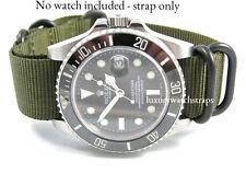 NEW G10 NATO® STRAP FOR SEIKO DIVE WATCH 6105 6309 7002 7s26 BLACK GREEN 20mm