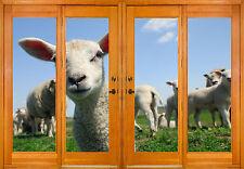 Stickers window trunk the eye deco Lamb ref 2566 ( 10 dimensions )