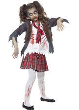Niños Disfraz De Colegiala Zombie