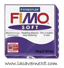 Pain de pâte polymère FIMO Soft prune 63, création bijoux perles