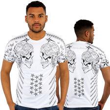 Skull Stars Chain 3D Print Fitted T-Shirt Urban life Monkey Business Hip Hop