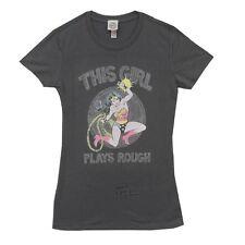 Wonder Woman This Girl Plays Rough DC Comics Junior T Shirt