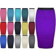 Bodycon Ladies Pencil Celebrity Smart Tube Gypsy Calf Length Midi Skirt