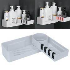 Corner Storage Rack Shower Towel Shelf Bathroom Rotating Tripod Holder Basket