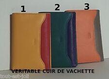 portefeuille en veritable cuir de vachette, femme, homme, fille,10 x15 cm