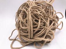 5/100M Natural Hessian Rope Burlap Ribbon String Craft Wedding Party Decor 5mm