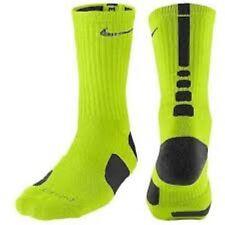 new Nike Mens Athletic DriFit Elite Basketball Crew Socks SX3694-300 VOLT /BLACK