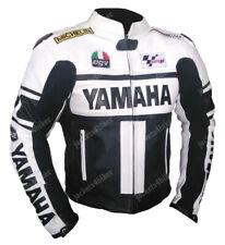 YAMAHA MOTOGP Chaqueta de Cuero de Moto Carreras Chaqueta de Motorista de Cuero
