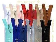 1 piece of different color invisible zipper.18/'/'L Pick your color.