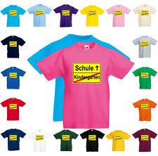 Fun T-Shirt Kindergarten Schule Einschulung alle Größen und Farben MARKENWARE