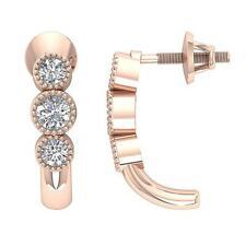 Fashion Studs Earring VS1 E 0.55 Carat Round Cut Diamond 14K Rose Gold Appraisal