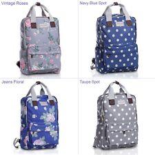 Ladies Jeans floral Spot Waterproof Lightweight Laptop Backpack School Rucksack