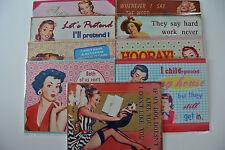 Vintage/Retro Style Humorous/Funny Metal Plaques - 11 Styles of Ladies