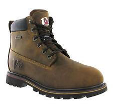 V12 torrent marron en cuir imperméable lacets de travail hommes cheville bottes UK5-13