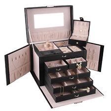Large Jewellery Box Bracelet Ring Necklace Storage 5 Layer Organizer Travel Case