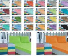 Bettlaken 100%  Baumwolle 150x240cm 26 Farben Betttuch Haustuch ohne Gummizug