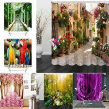 3D print Pattern Shower Curtains Polyester Waterproof Design Bathroom 12 Hooks