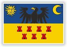 Transylvania Flag Sticker Romania Bumper Decal Helmet Truck Motorcycle Car Door