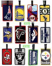 NFL,NBA,MLB Team Soft Luggage ID Bag Tags