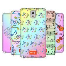 Officiel Emoji musique Patterns Coque Arrière Dur Pour Samsung Téléphones 2