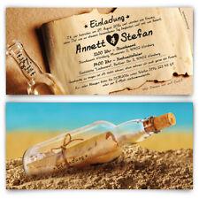 Hochzeitseinladungen Flaschenpost Sand Strand Post Brief Nachricht Einladungen