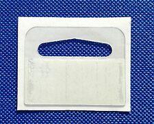 10 to 20,000  Self Adhesive SMALL DELTA HANG TAB, EURO Slot,Hook, Hanging Tabs