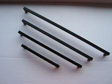 Bügelgriff Stahl schwarz-matt 9 x 9mm verschiedene Längen Möbelgriff Möbelgriffe