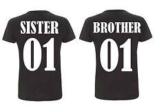 Kinder Rundhals T-Shirt BROTHER & SISTER für Geschwister
