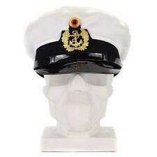 Original BW German army officers marines cap visor forage peaked navy naval