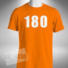 180 Darts T-Shirt Mens Taylor Van Gerwen Anderson Wright Lewis Wade Barny