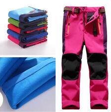 Kids Child Winter Warm Fleece Pants Boy Girls Waterproof Hiking Outdoor Trousers