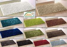 Teppich Metallic Shaggy all Räume Badteppich Badematte Duschvorleger Badvorleger