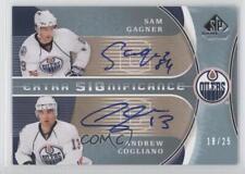 2009 SP Game Used Edition XSG-CG Sam Gagner Andrew Cogliano Edmonton Oilers Auto